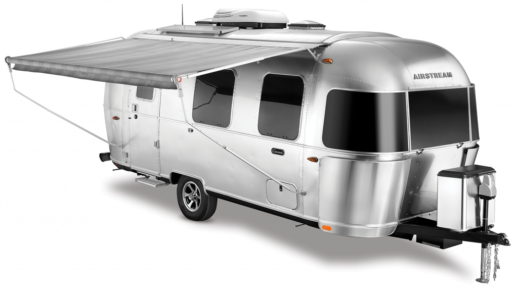 Airstream Caravel Travel Trailer Awning Out