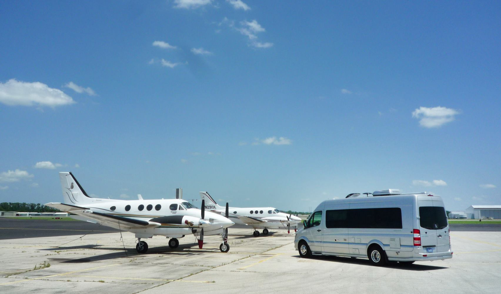 Airstream Touring Coach and Planes