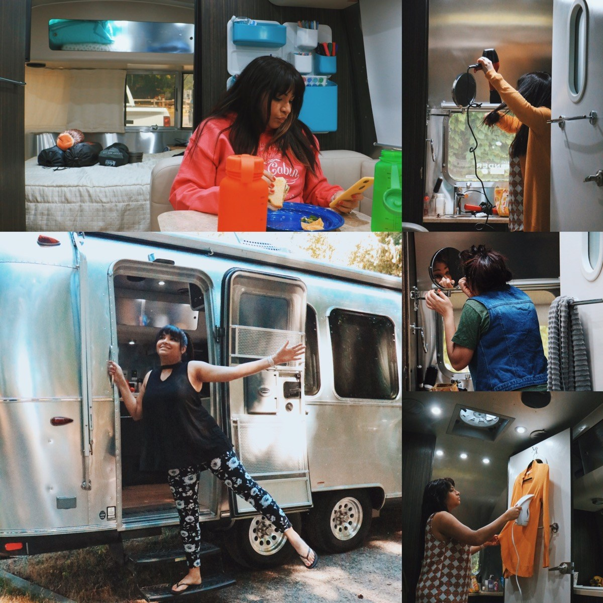 Endless Caravan: Brown People Camping Collage