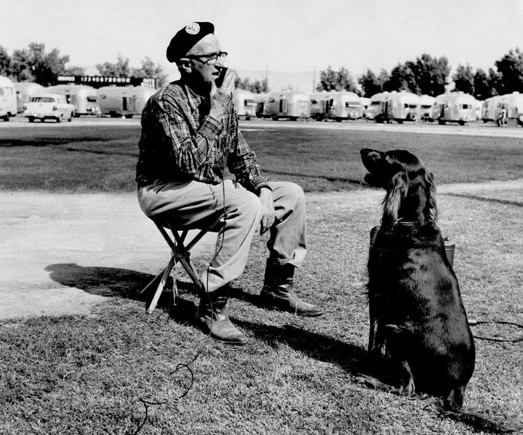 Wally Byam with dog
