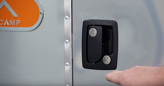 Airstream Basecamp Main Entry Door Locks