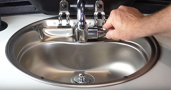 Airstream Basecamp Sink Faucet Hot and Cold Control