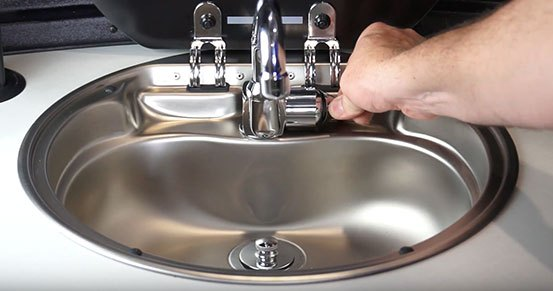 Airstream Basecamp Kitchen Sink Faucet Water On Off Control