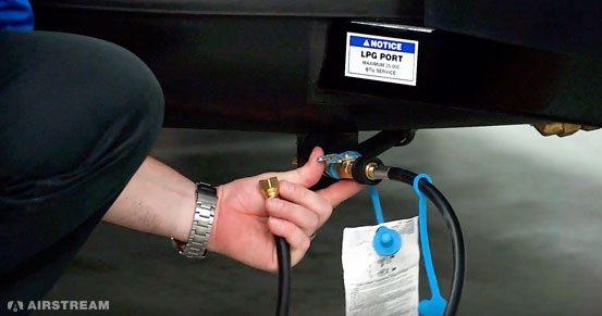 Airstream Basecamp LP Valve