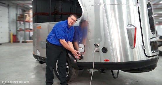 Airstream Basecamp Water Hookups and Tanks