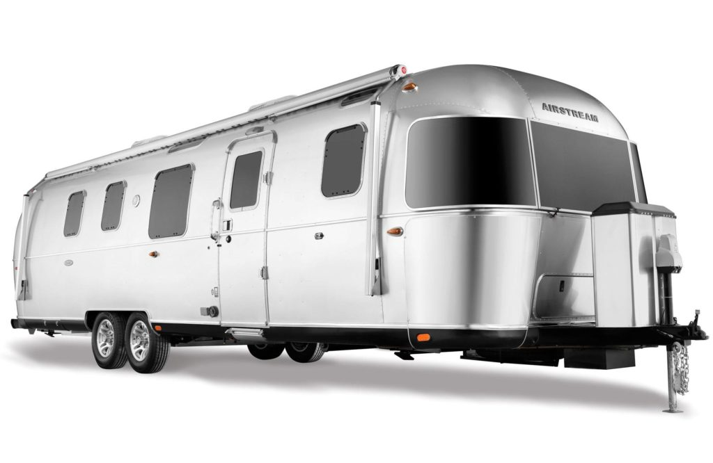 Exterior of Airstream's 33-foot Classic travel trailer.