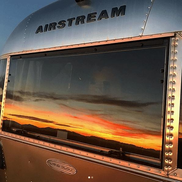 Brian Ward Airstreamer Window Reflection
