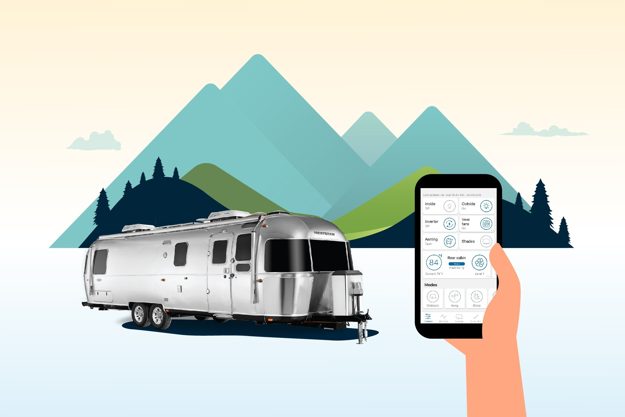 Now Available in Every Classic: Airstream Smart Control Technology