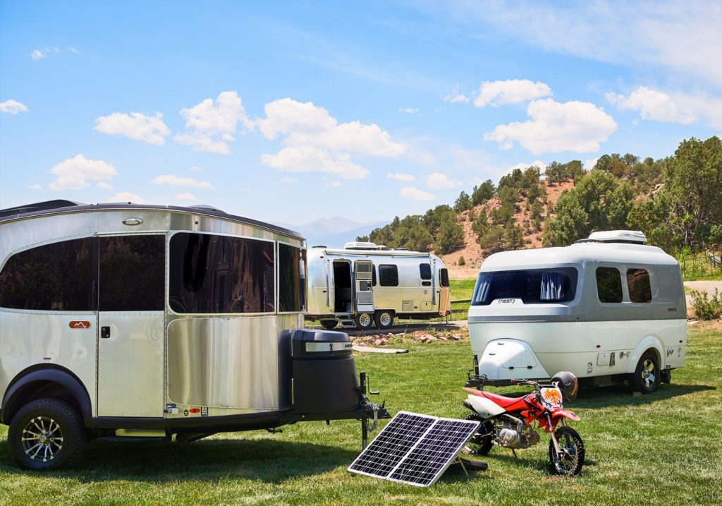 Airstream Basecamp X and Nest by Airstream and International Signature Travel Trailer landscape Zamp Solar Panel