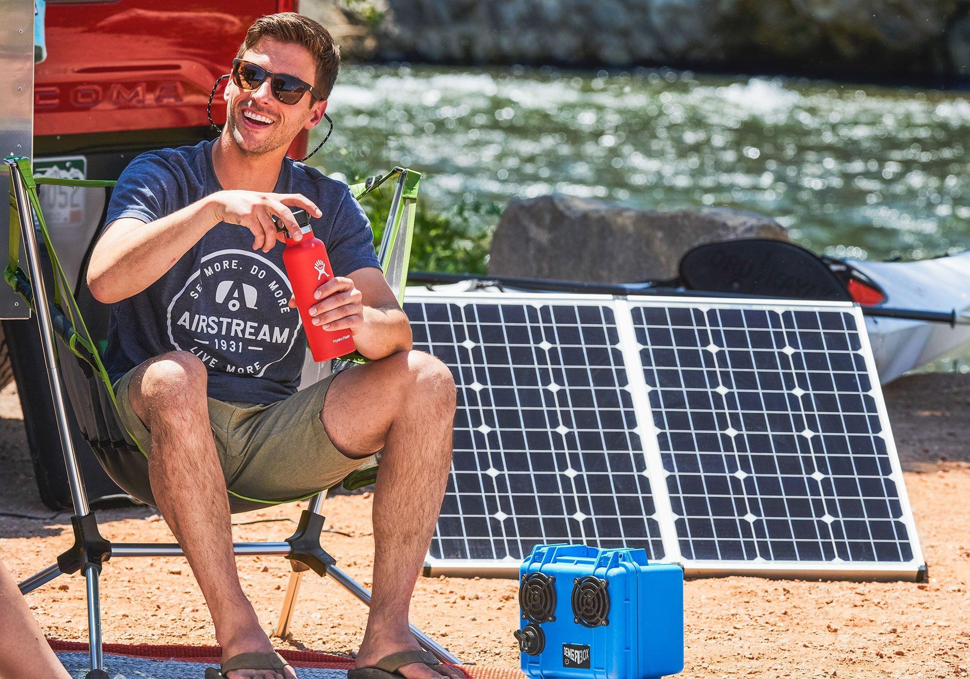 Airstream and Zamp Solar Panels
