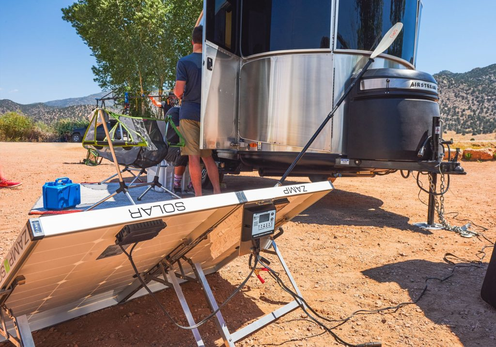 Airstream Basecamp X and Zamp Solar Panel