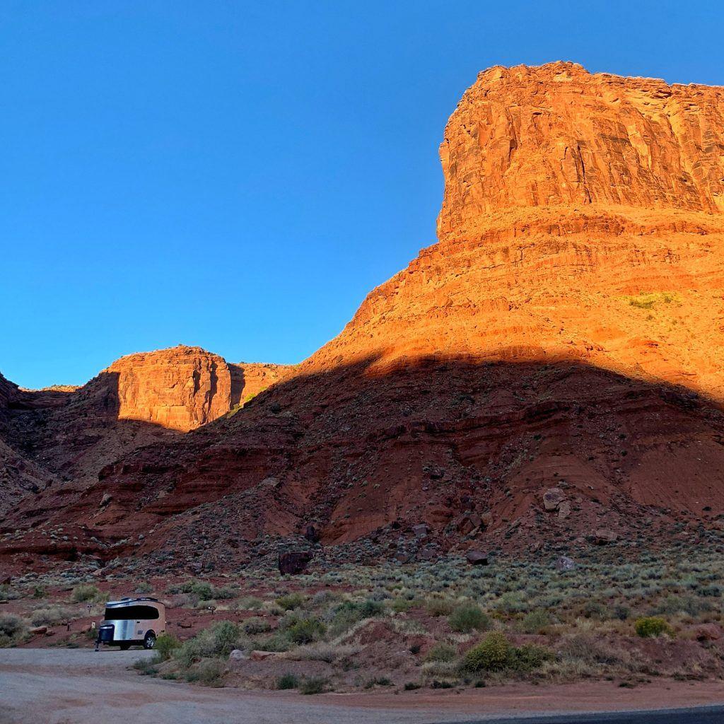 Airstream Basecamp Desert Mountain Sunset
