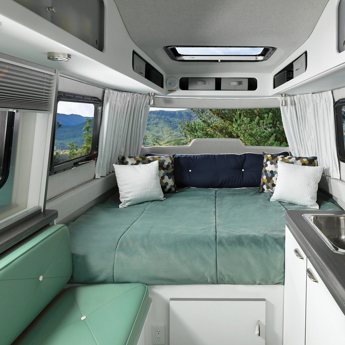Nest by Airstream interior decor blue