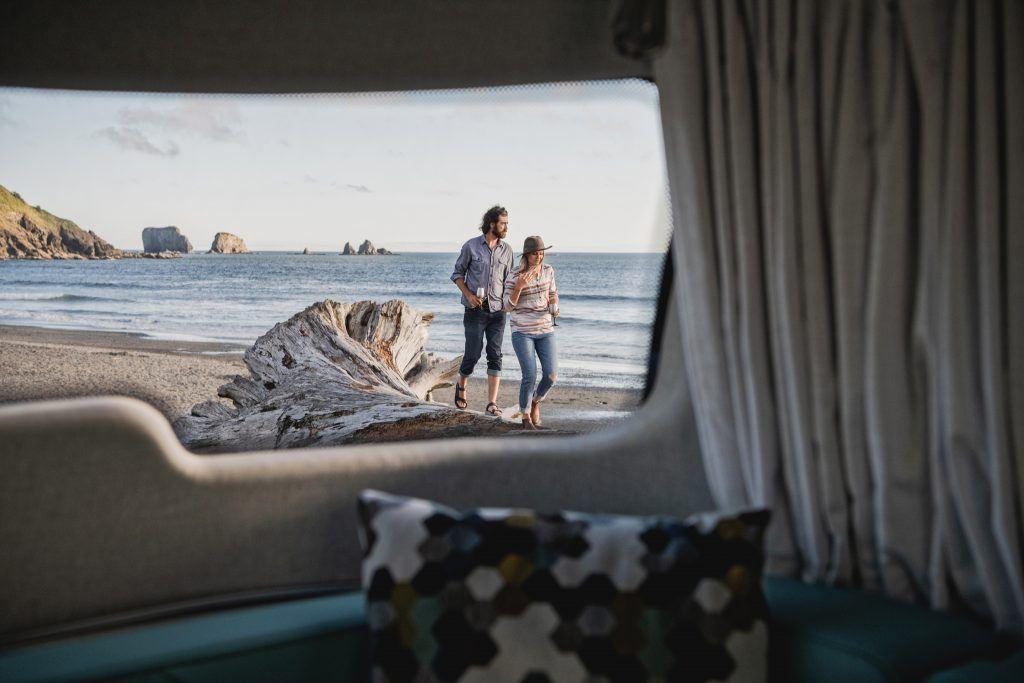 Airstream nest panoramic window and ocean view
