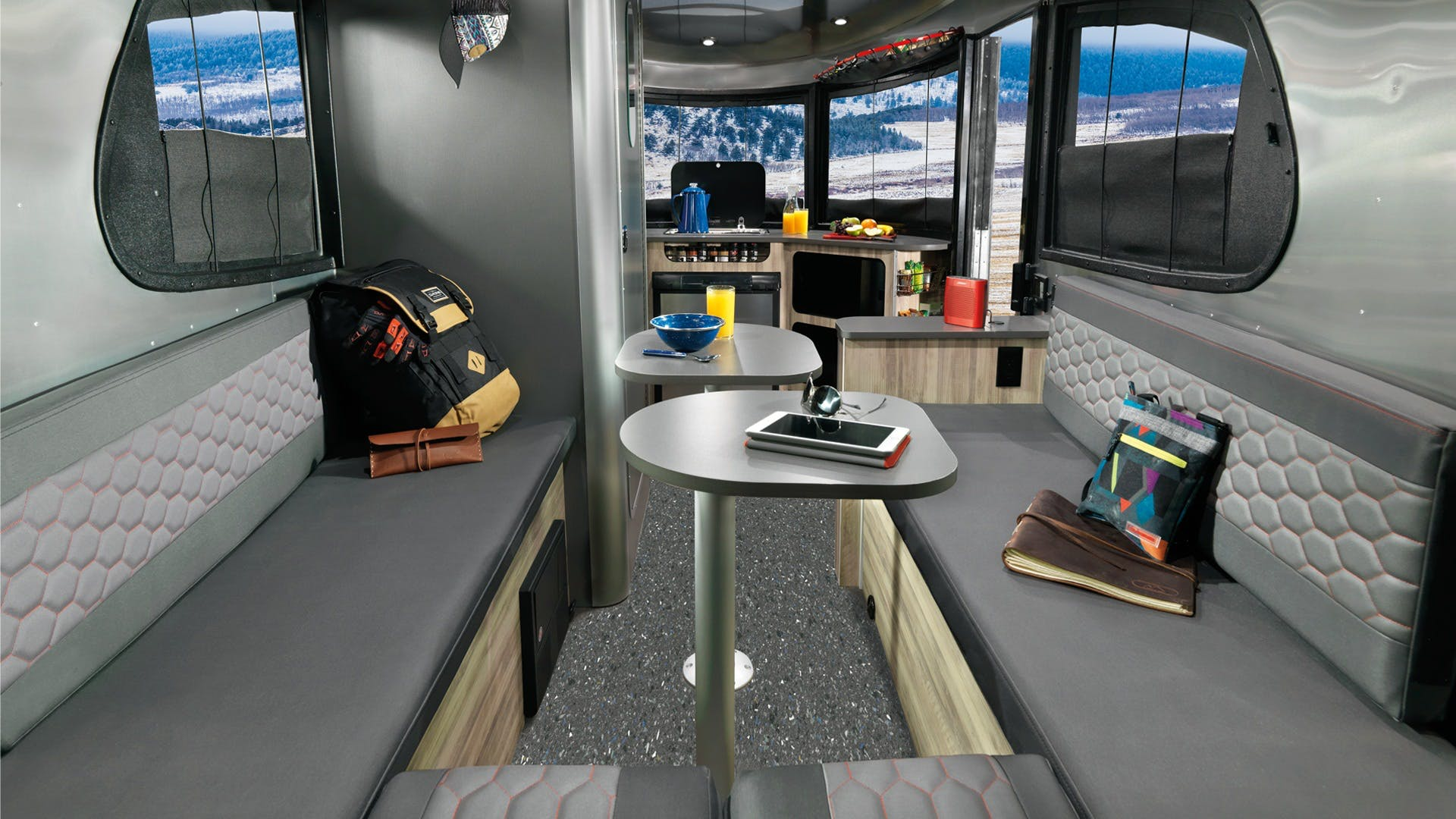 Airstream Basecamp Benches and Table