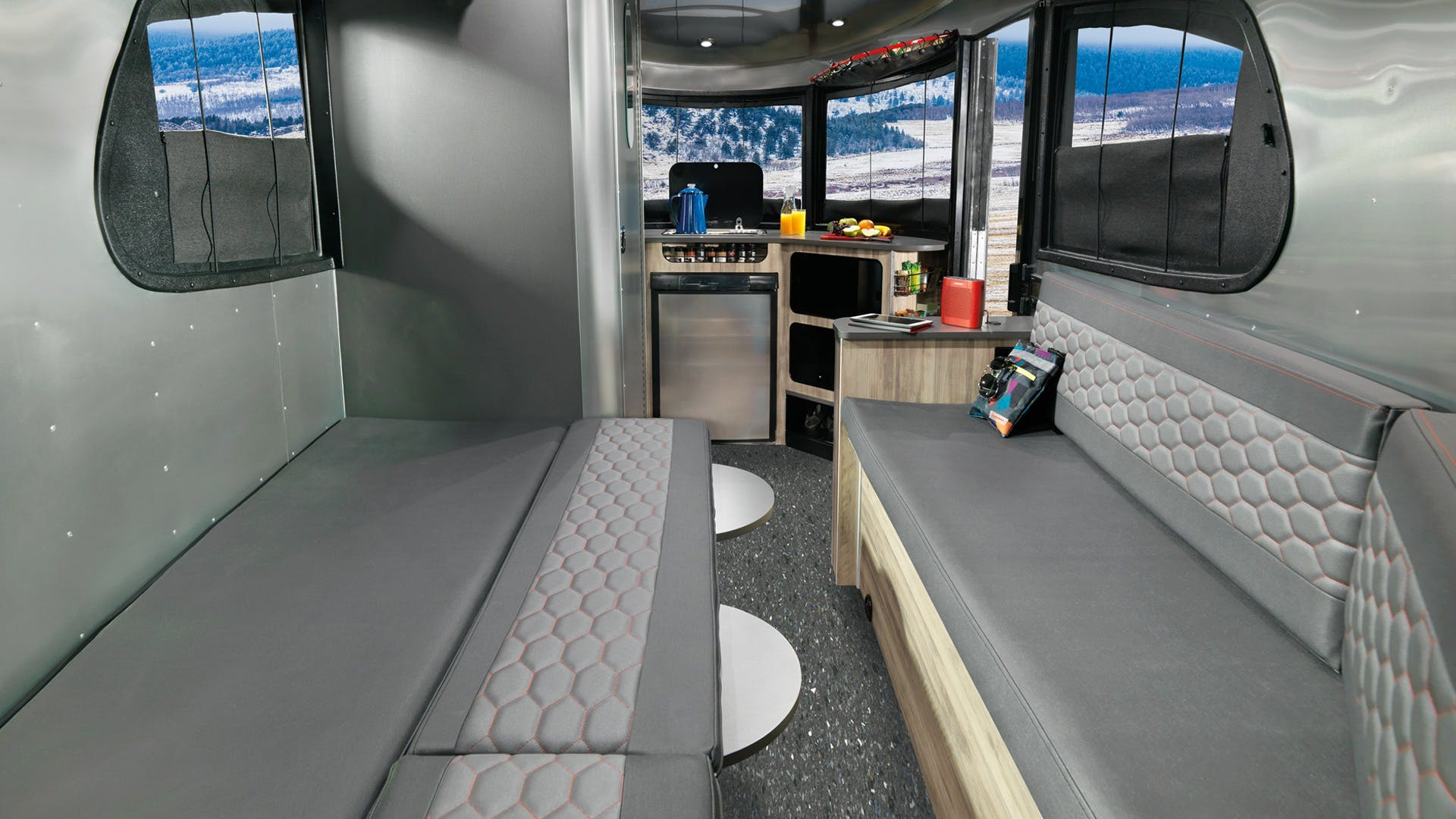 Airstream Basecamp Half Bed Configuration