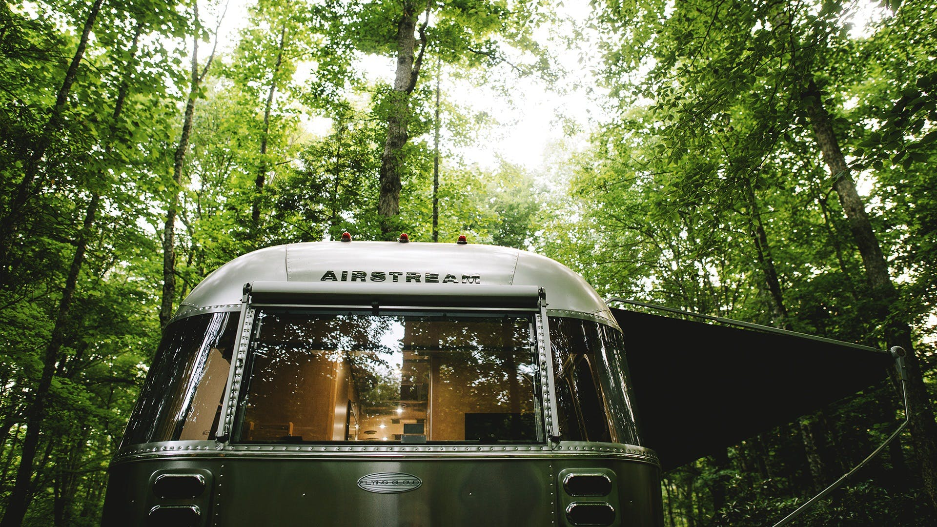 Flying-Cloud-Travel-Trailers-camping-in-the-woods