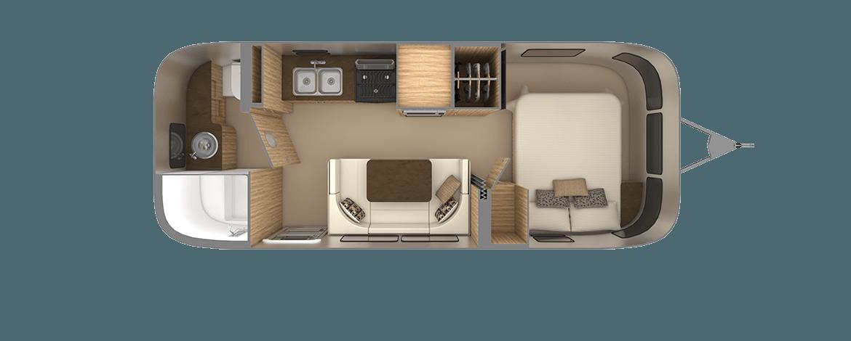 Flying Cloud 23FB Floor Plan | Travel