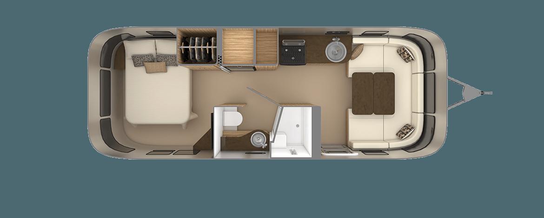 Flying Cloud 26RB Floor Plan | Travel