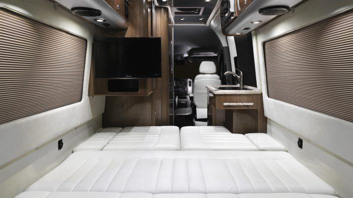 Airstream Interstate Nineteen Mercedes Benz Bed Down