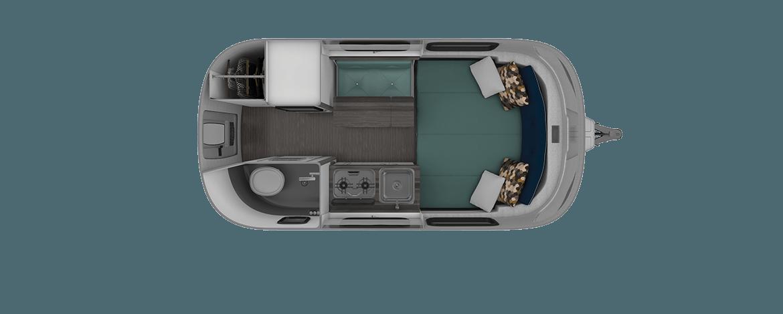 Nest 16FB Floorplan | Travel Trailers | Airstream