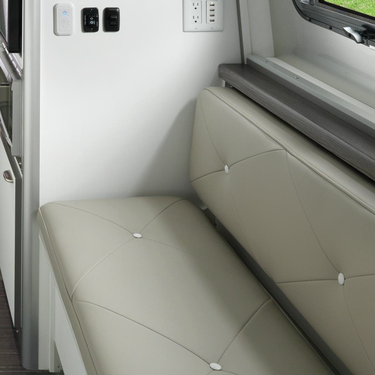 Airstream Travel Trailer Nest wingspan white cushions decor