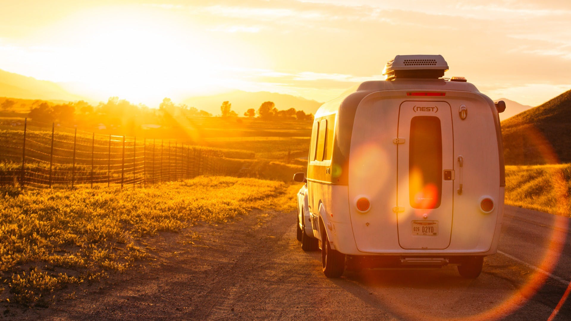 Airstream Travel Trailer sunset Nest
