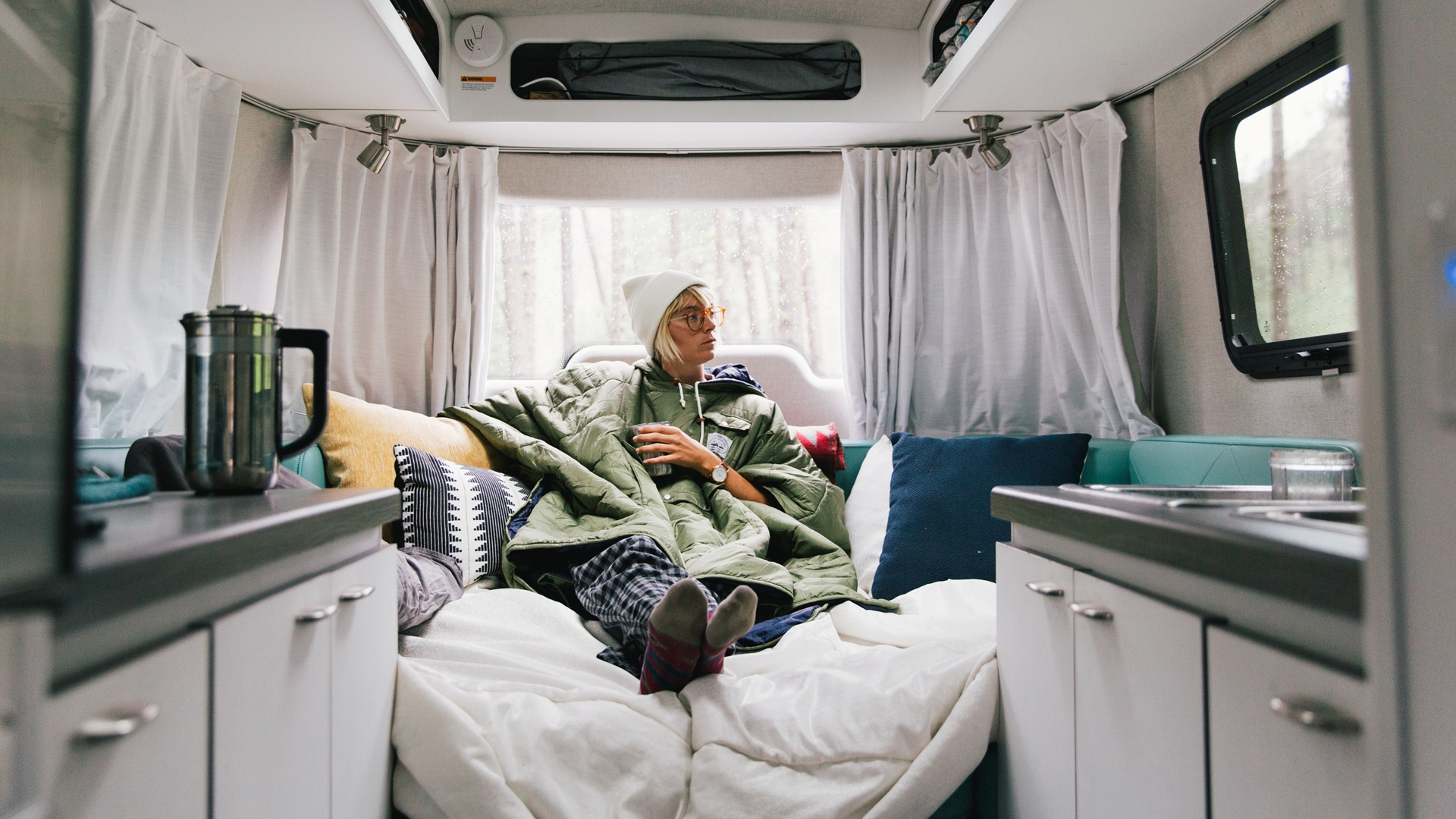 Nest by Airstream bed comfort coffee window big