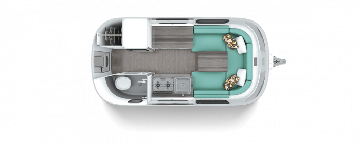 Nest by Airstream dinette floor plan floorplan layout