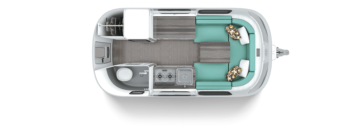 Nest by Airstream floor plan dinette