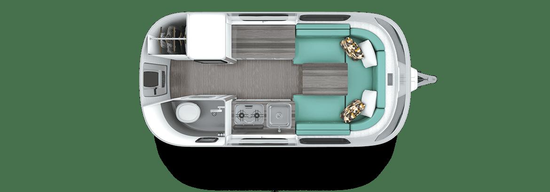 Nest by Airstream floor plan dinette
