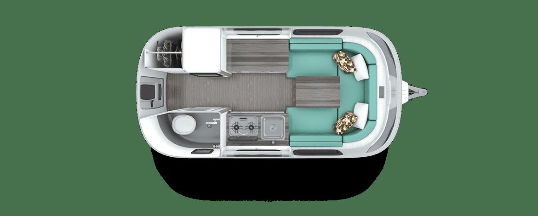 Nest by Airstream dinette floor plan floorplan layout