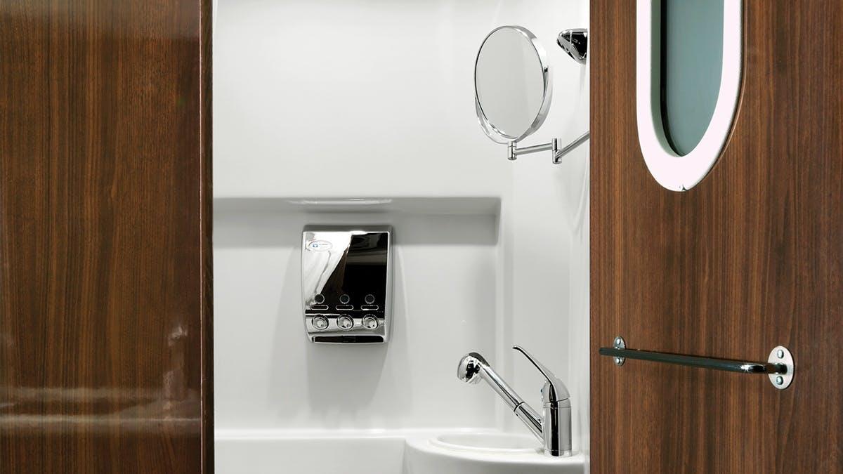 Airstream Interstate Nineteen Mercedes Benz lavatory bathroom wet bath
