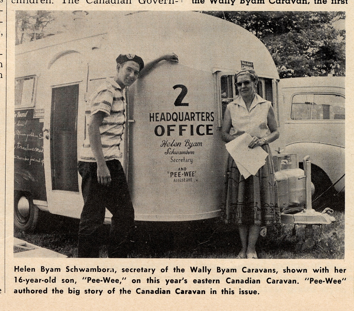 Dale and Helen Oct 19 55 Caravanner