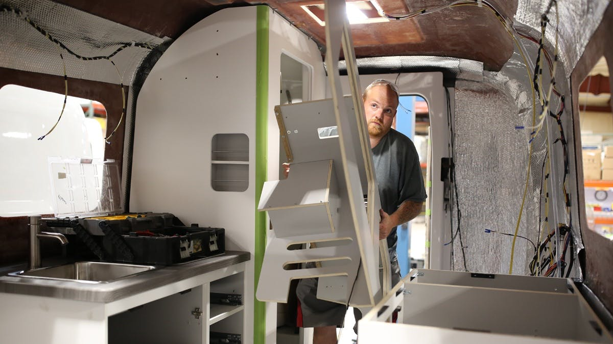 Nest by Airstream production process hand built wiring