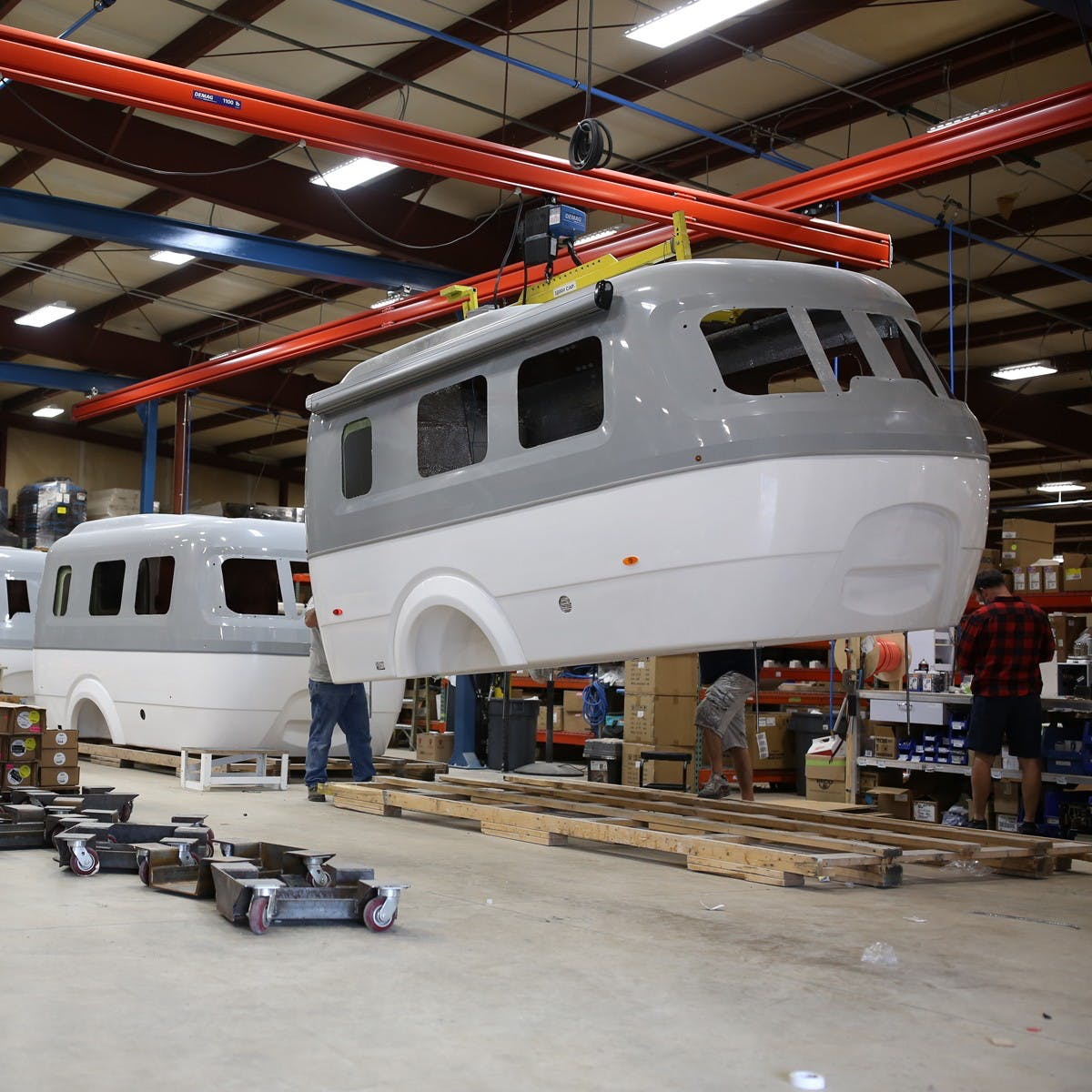Nest by Airstream quality fiberglass shell production process