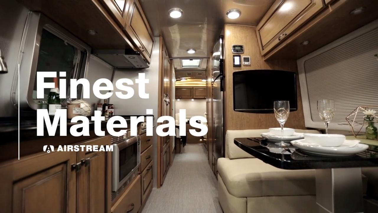 Airstream Travel Trailer interior classic finest materials quality production