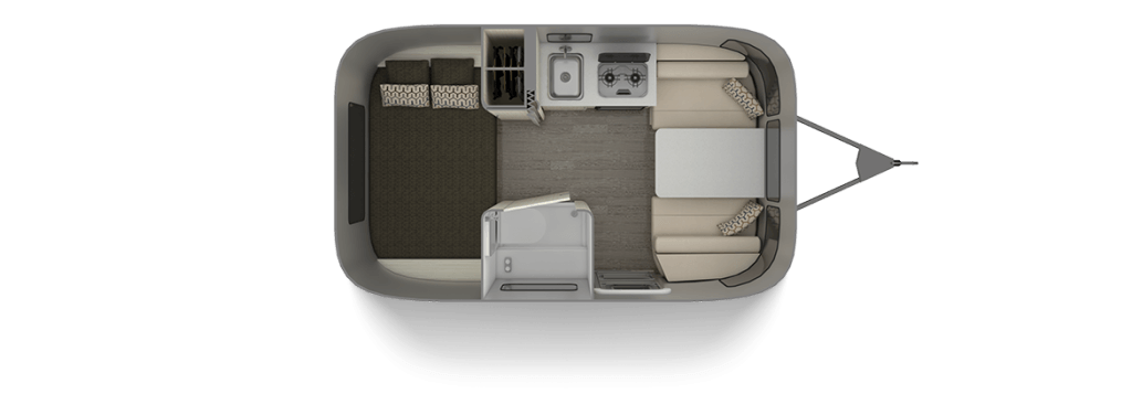 Airstream Sport 16RB Floor Plan