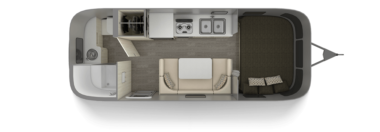 Airstream Sport 22FB Floor Plan