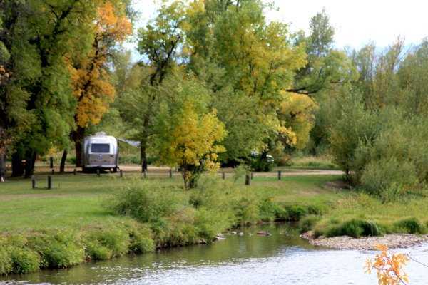 Airstream Best January Camping Locations Nature Lake Trees
