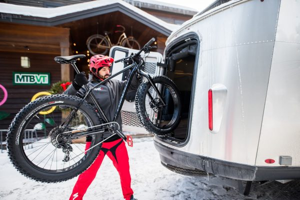 Airstream Basecamp Loading Bicycle