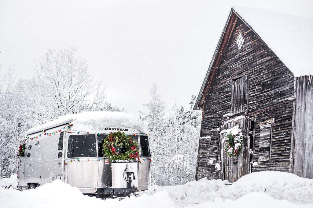 Airstream Travel Trailer Christmas