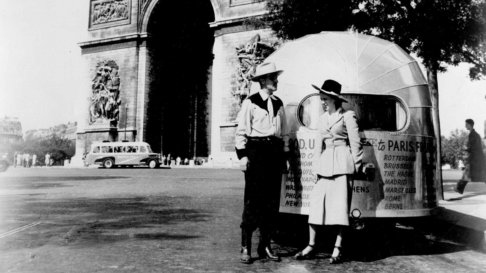 Wally Byam and Marion European Caravan 1948