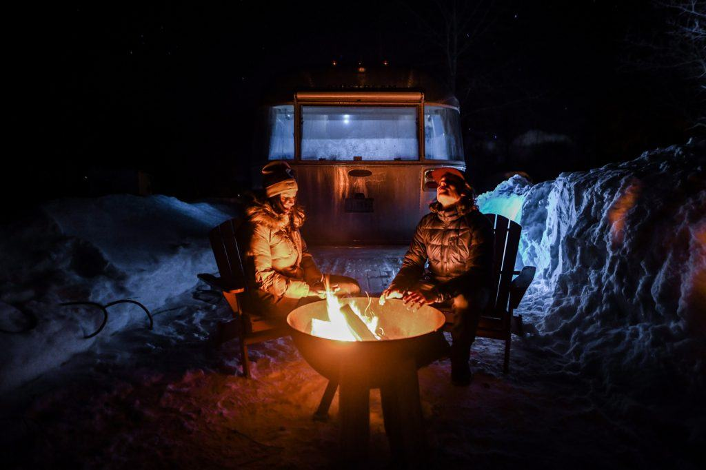 Airstream Travel Trailer campfire