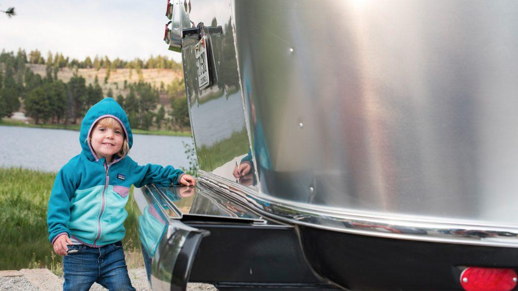 Airstream Travel Trailer Young Child