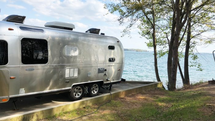Airstream Travel Trailer Camping