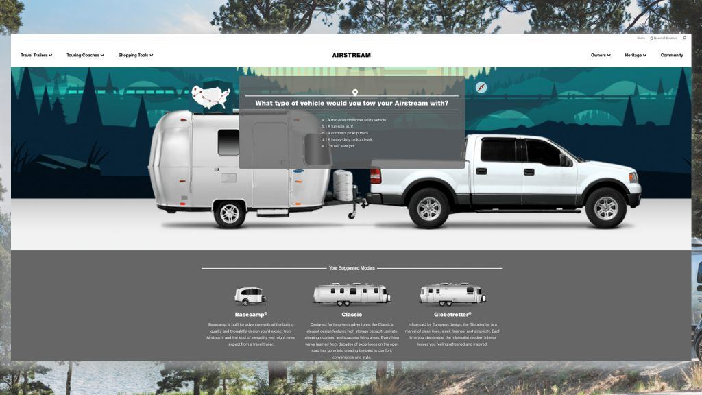 Airstream Choose Your Own Shopping Tool blog