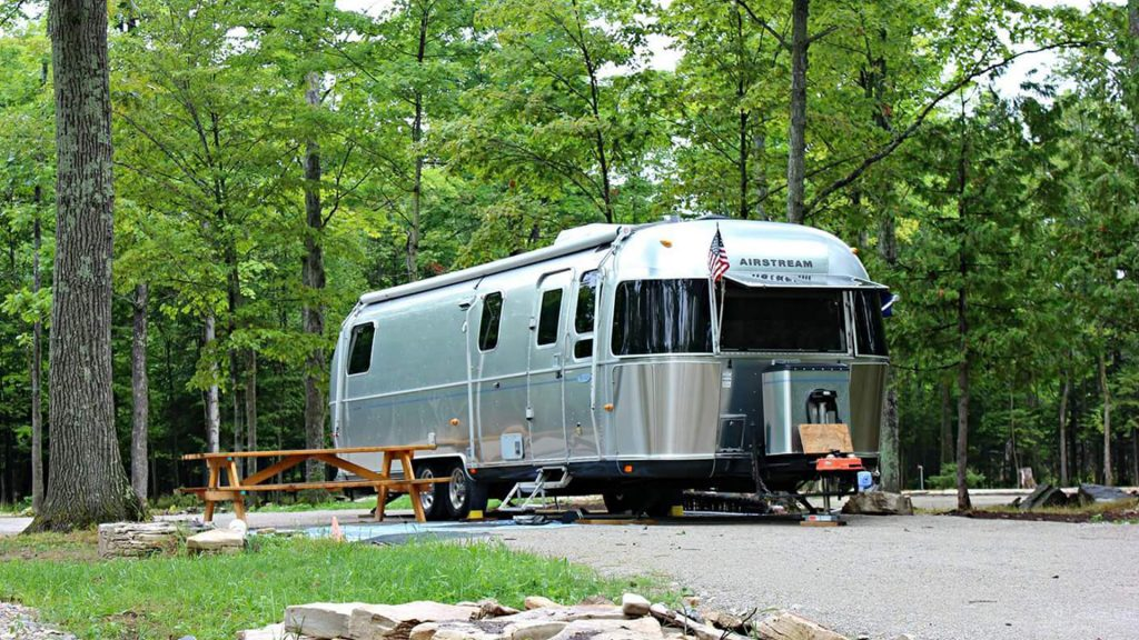 Airstream Travel Trailer at Bay Ridge RV Park & Campground