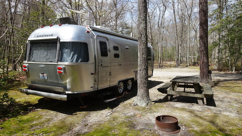 Airstream Travel Trailer at Birch Grove Park & Campground