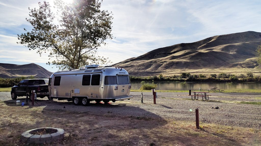 Airstream Travel Trailer at Catfish Junction RV Park & Campground